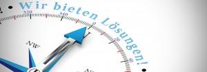 Wir bieten individuelle professionelle Lösungen als Konzept auf einem Kompass